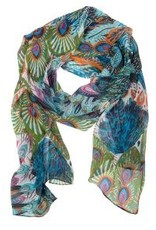 Peacock Pattern Scarf, India