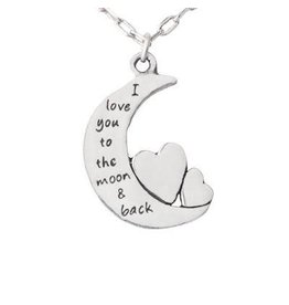Pendant Necklace Mom and Daughter Love,  Thailand
