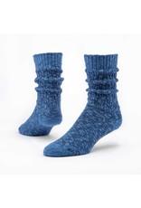 Organic Cotton Ragg Socks, Solid Navy