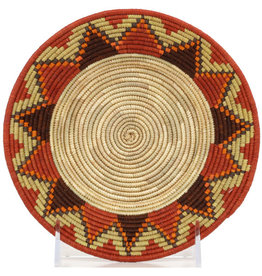 Raffia and Millet Open Bowl, Fine Weave, 11/12""