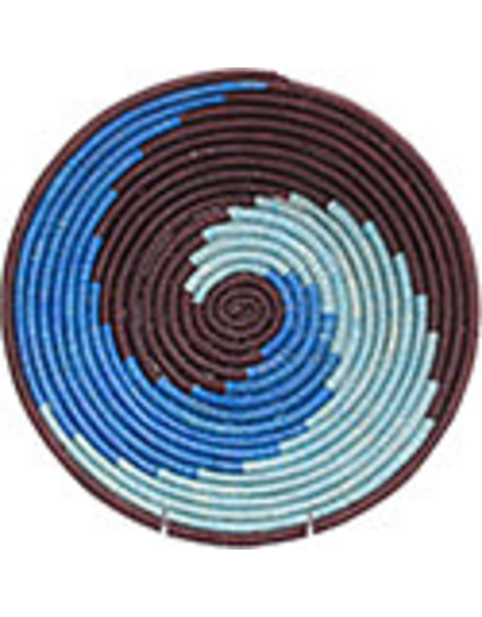 "Bukedo and Raffia Basket, Ocean Spiral, 23"", Uganda"