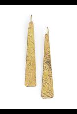 Long Drop Brass Earrings, Chile