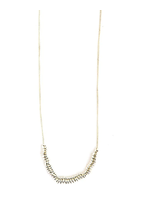Sterling Silver, Delicate Disks Necklace, India