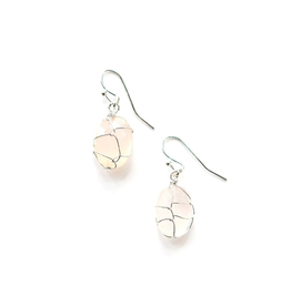 Rose Quartz Wrap Earrings, India