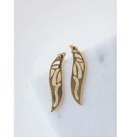 Fairy Wing Earrings, Brass, India