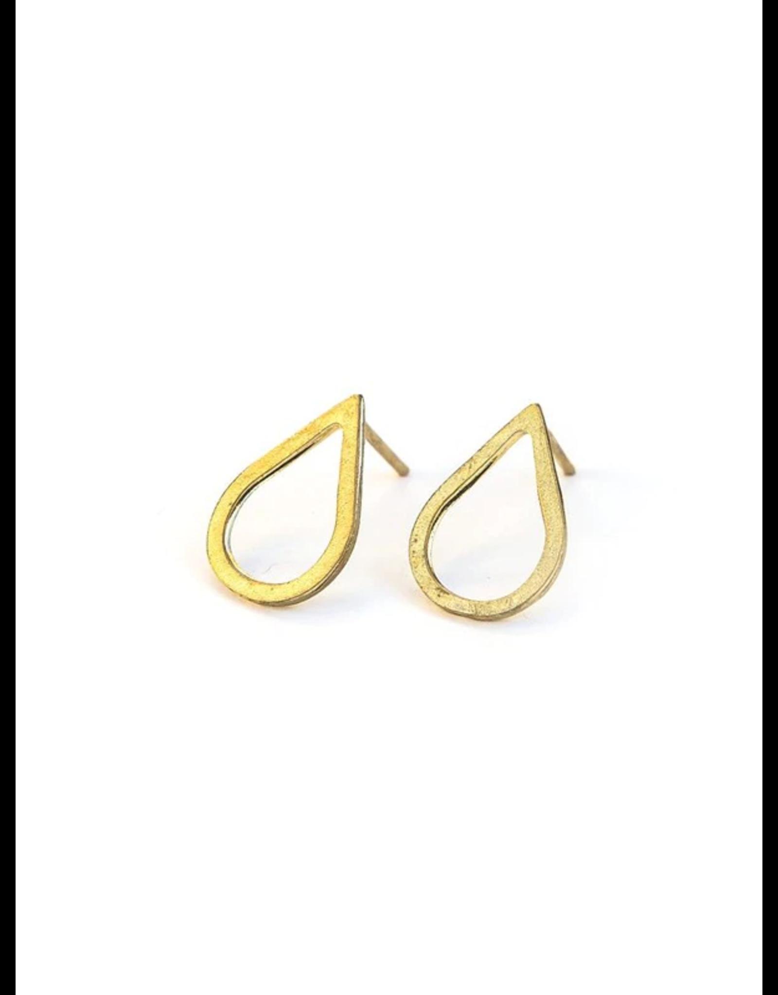 Petal Earrings Brass, India
