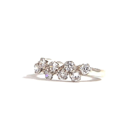 Crystal and Sterling  Ring