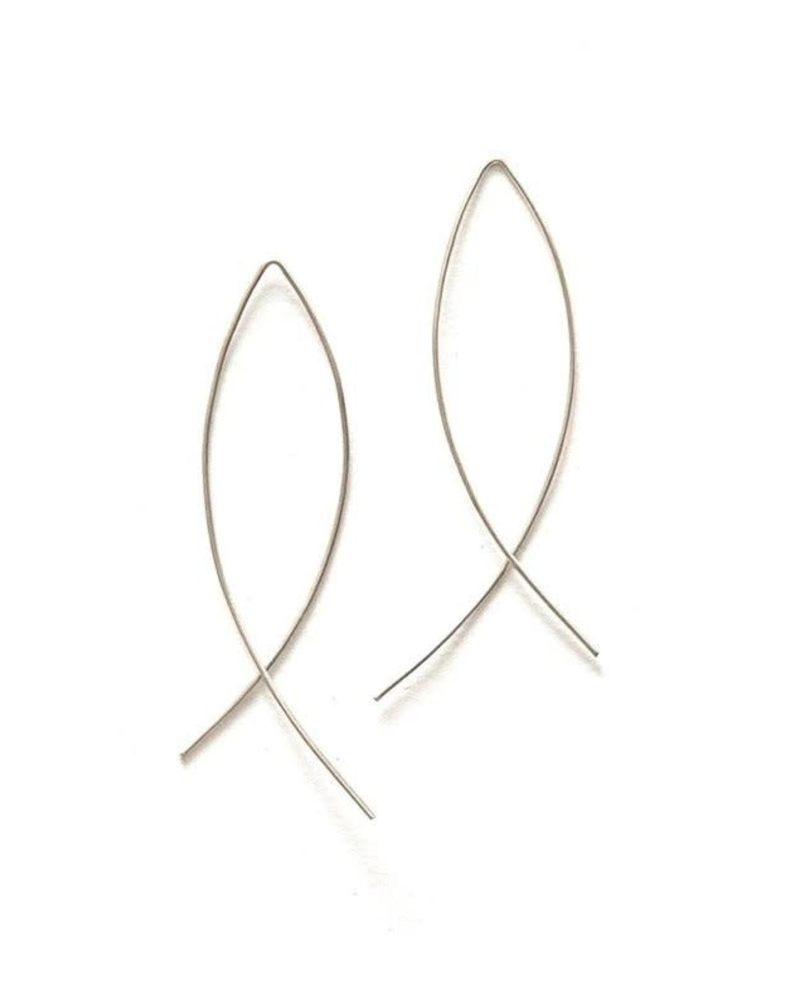 Cambered Sterling Hoop Earrings, India