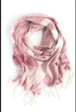Cotton Tuyen Striped Scarf, Pink, Vietnam