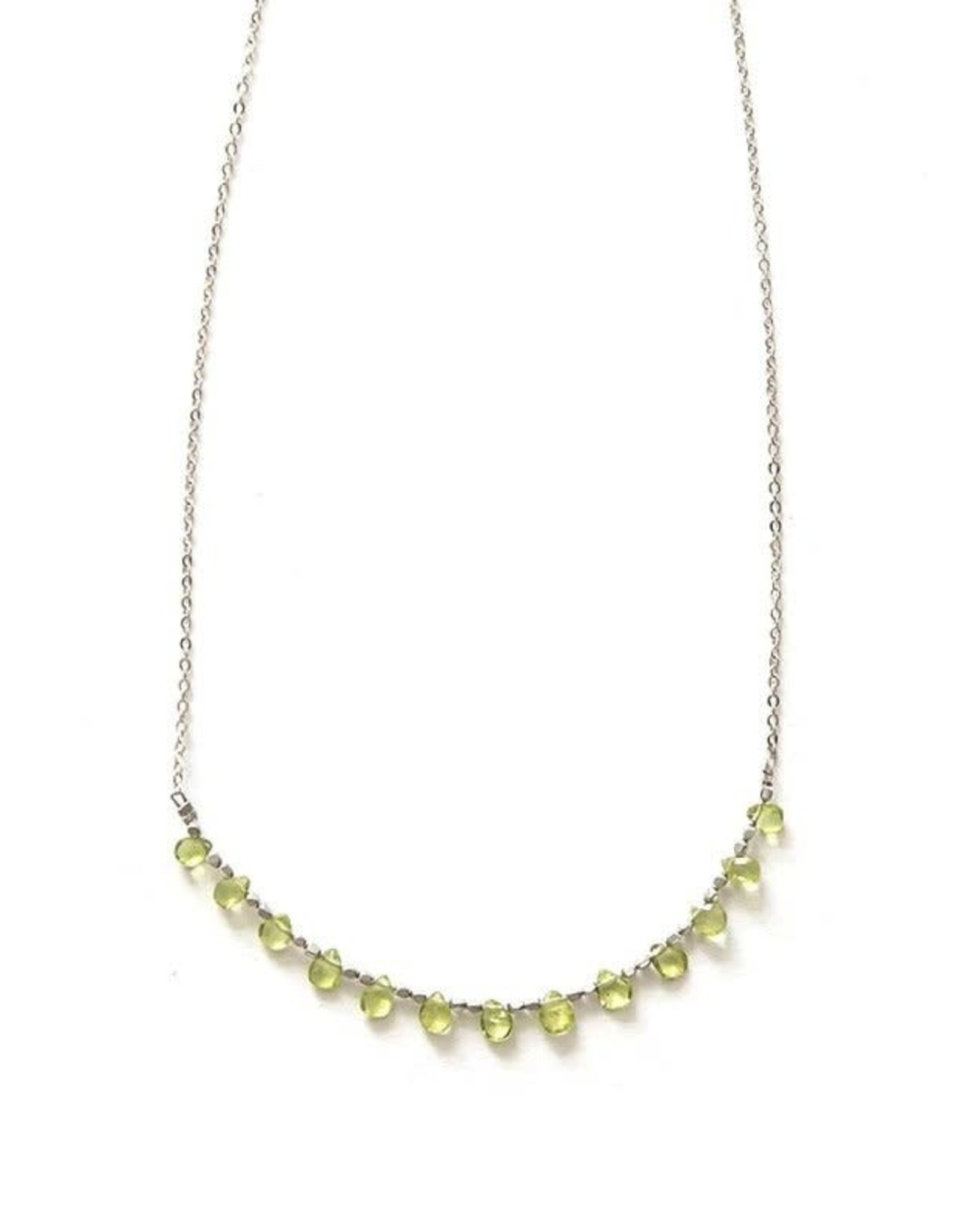 Clover Patch Peridot Necklace Silver, India