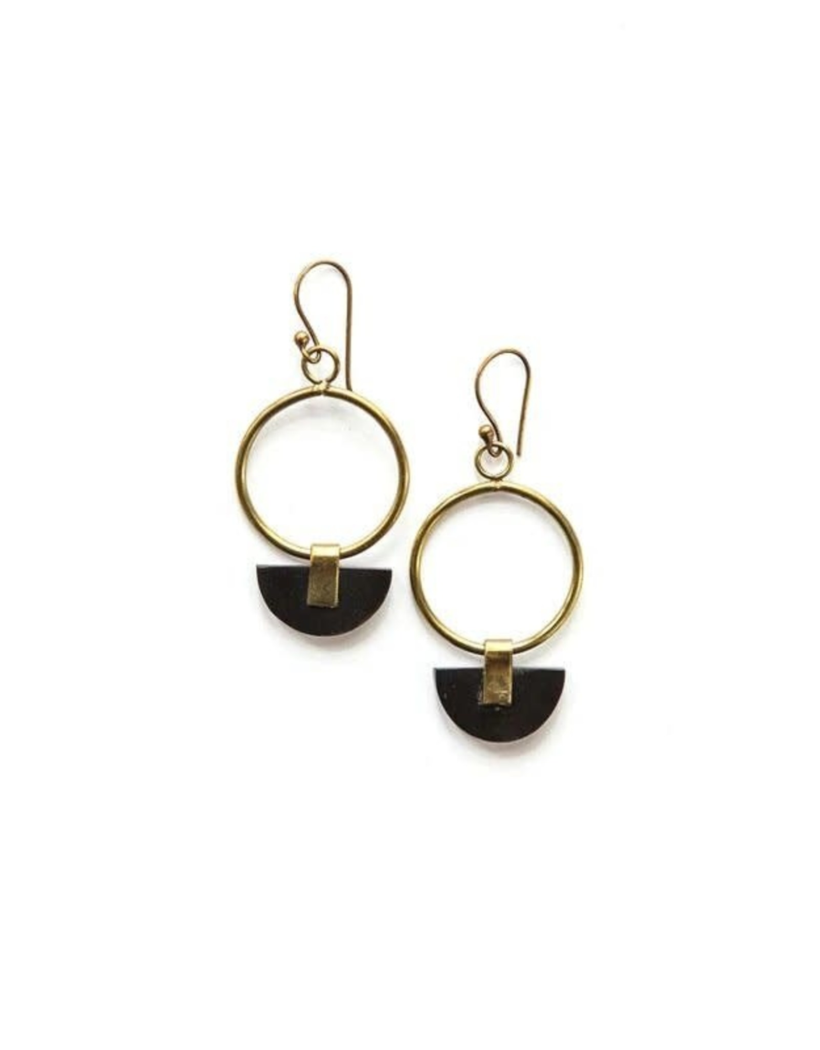Art Deco Half Moon Earrings, India
