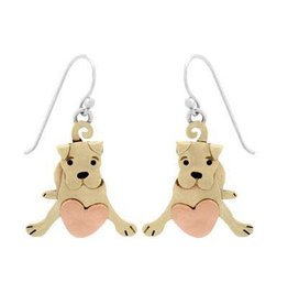 Puppy Love Mixed Metal Earrings, Mexico