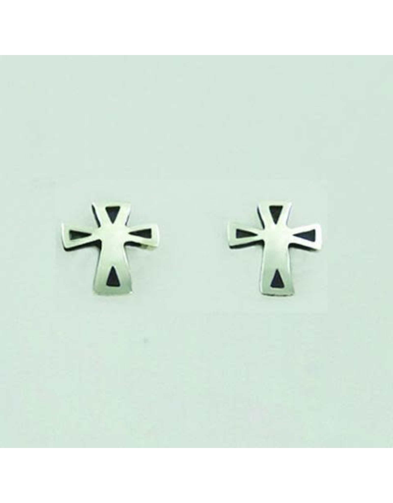 Sterling Silver Cross Posts, Mexico
