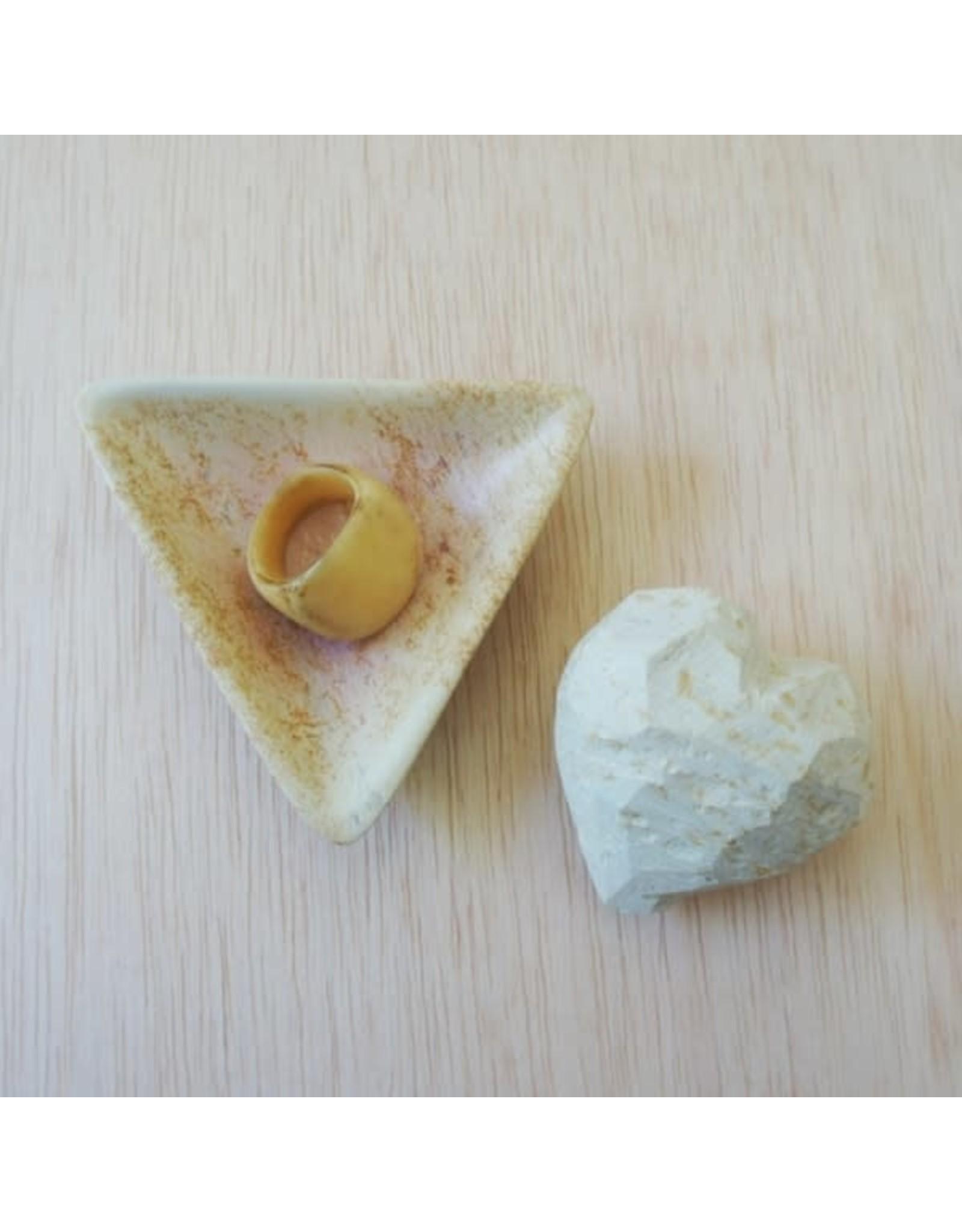 Soapstone, Small, Natural Triangle Dish