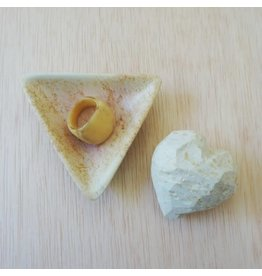 Soapstone, Small, Natural Triangle Dish