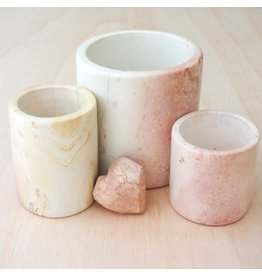 Natural Soapstone Cylinder Planters