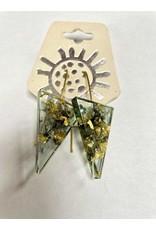 Eco Resin Triangle Earrings