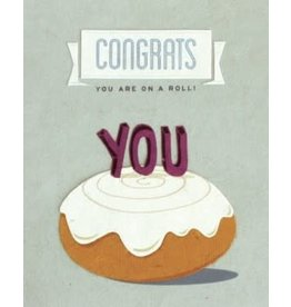 On a Roll, Congratulations Greeting Card