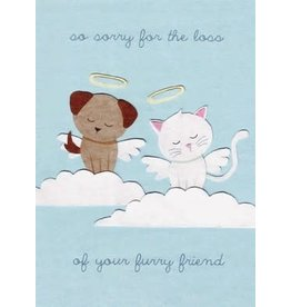 Cat and Dog (Furry Friends) Sympathy Greeting Card