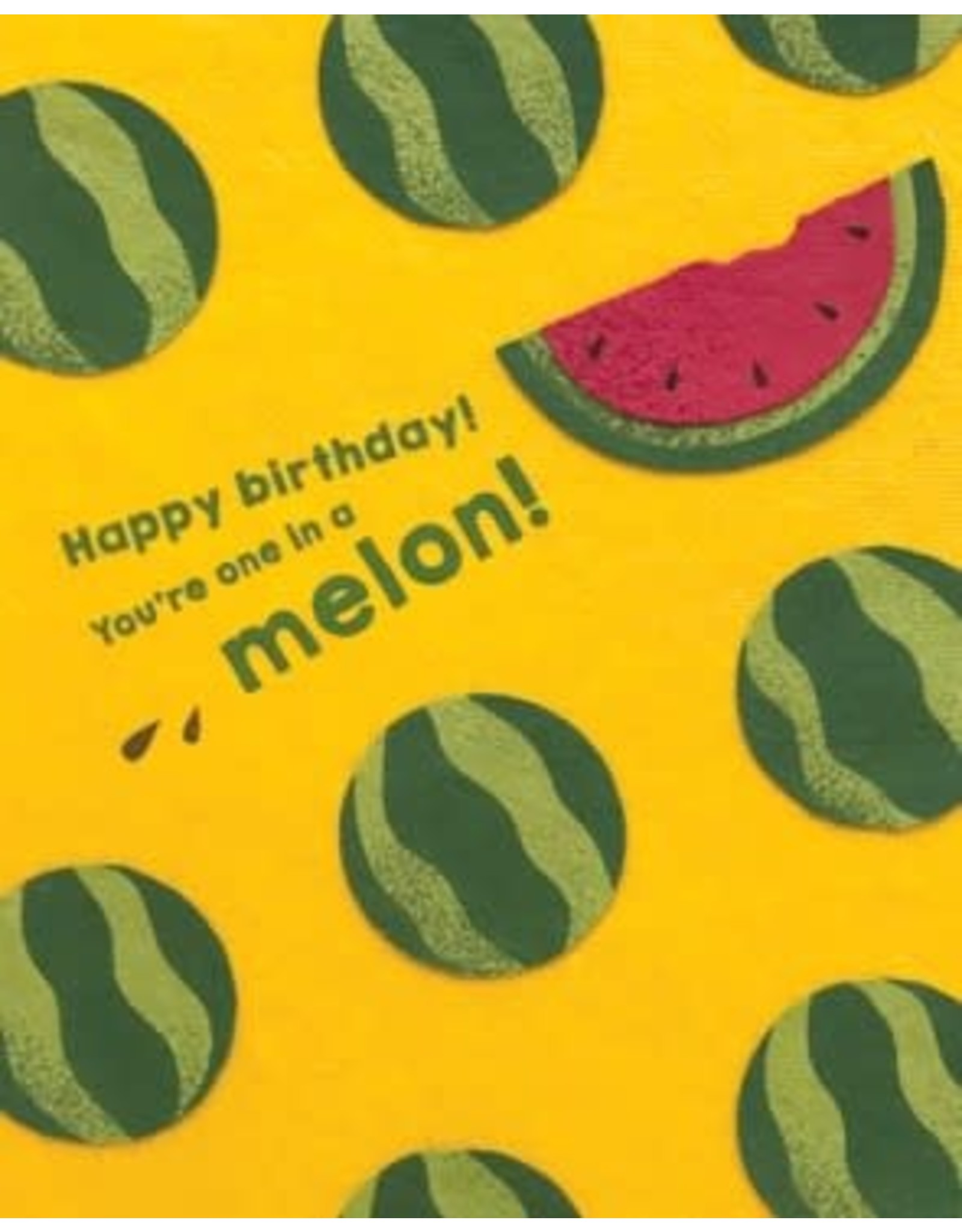 One Melon Birthday Greeting Card