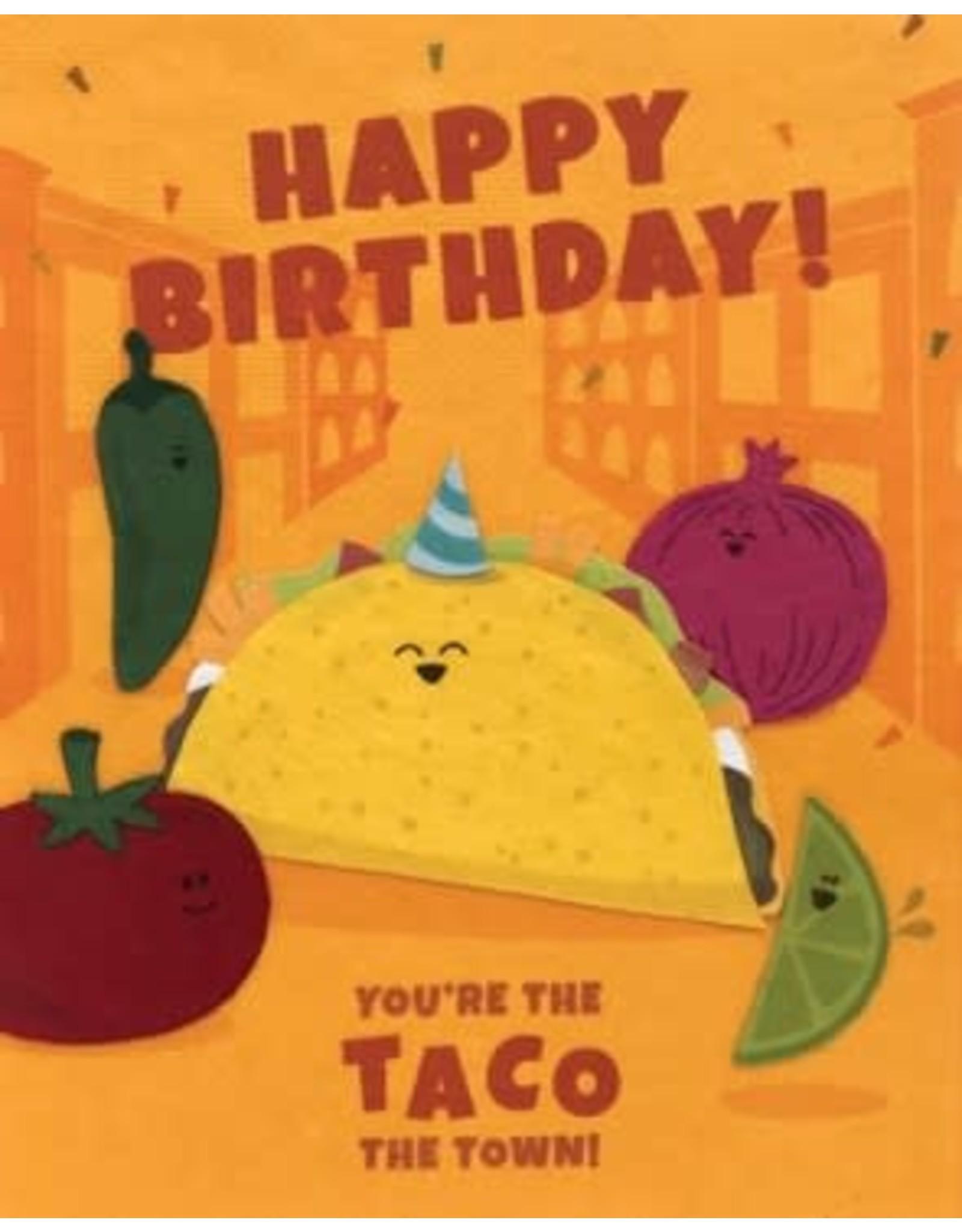 Taco the Town Birthday Card