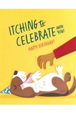 Itching to Celebrate Birthday Greeting Card