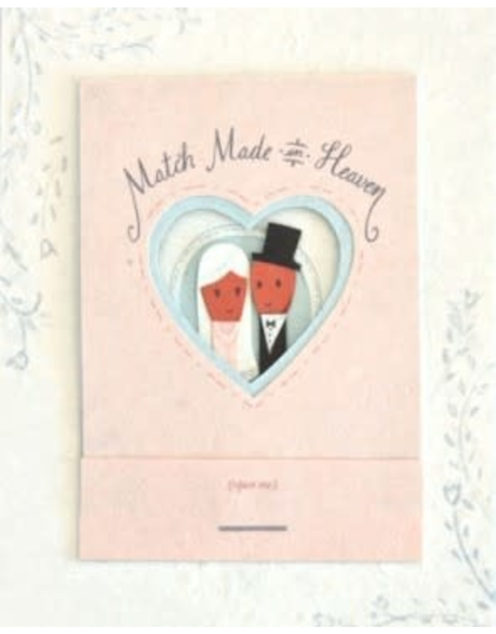 Match Made in Heaven Wedding  Greeting Card