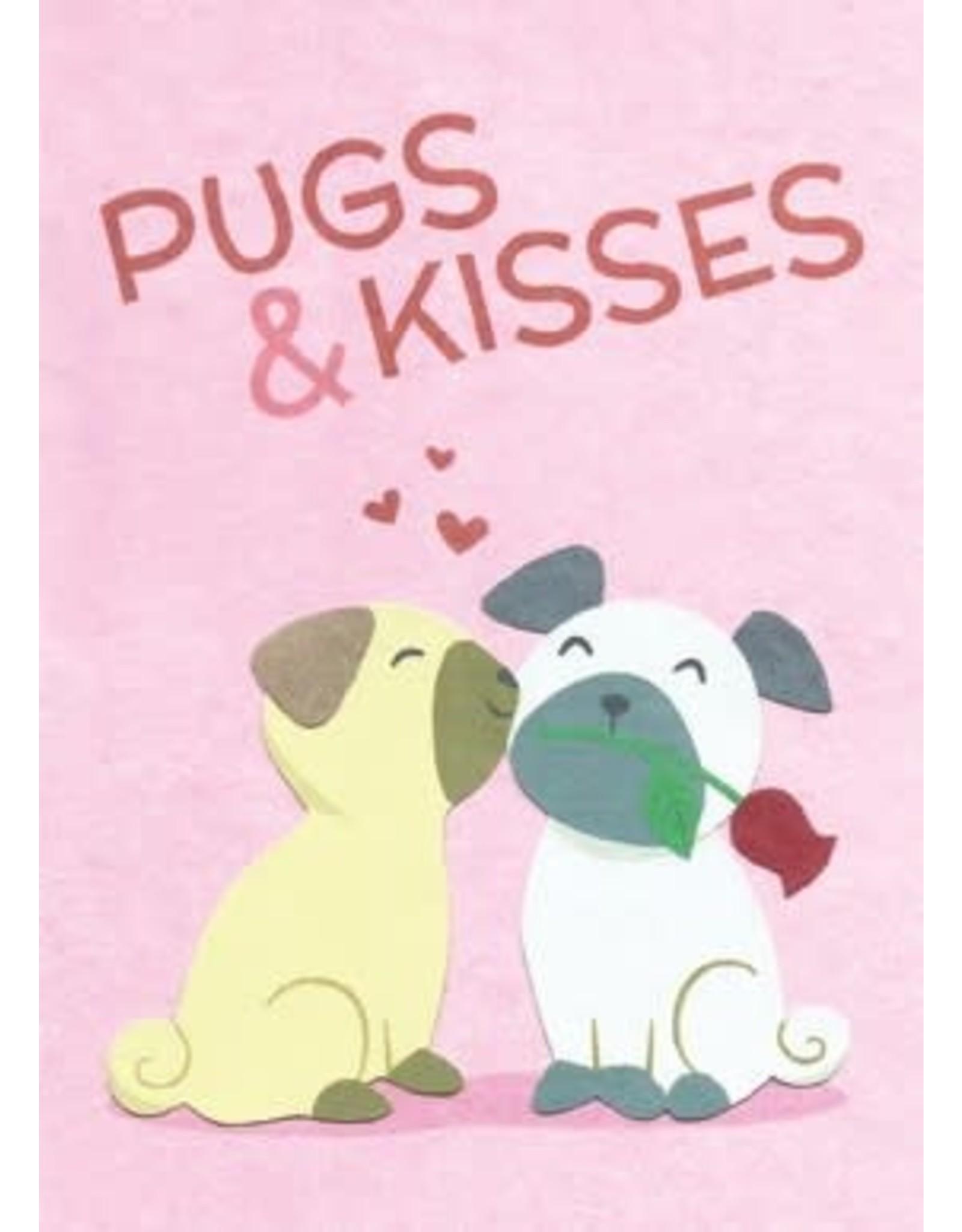 Pugs and Kisses Love Greeting Card, Rwanda