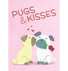 Pugs and Kisses Love Greeting Card