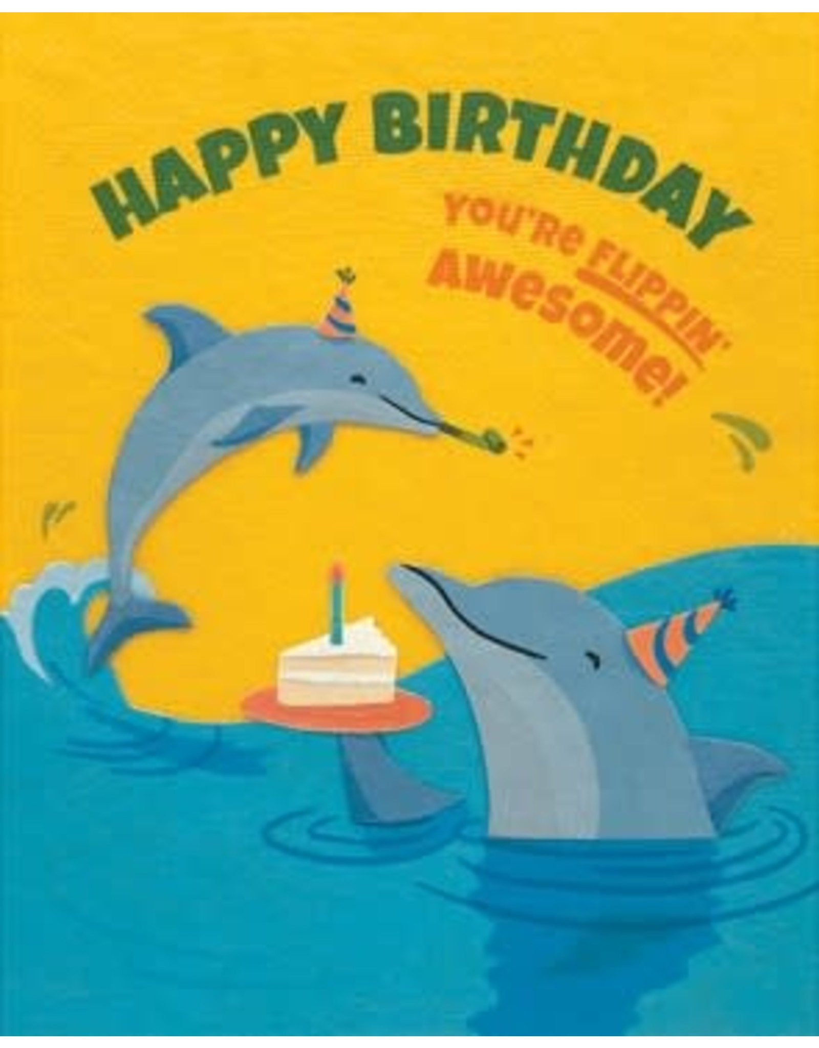 Flippin Dolphin Birthday Greeting Card