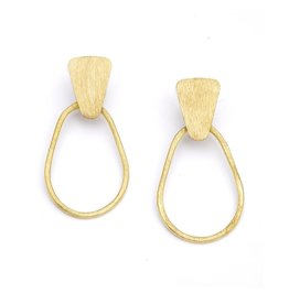 Kaia Gold Hoop Stud Earrings, India