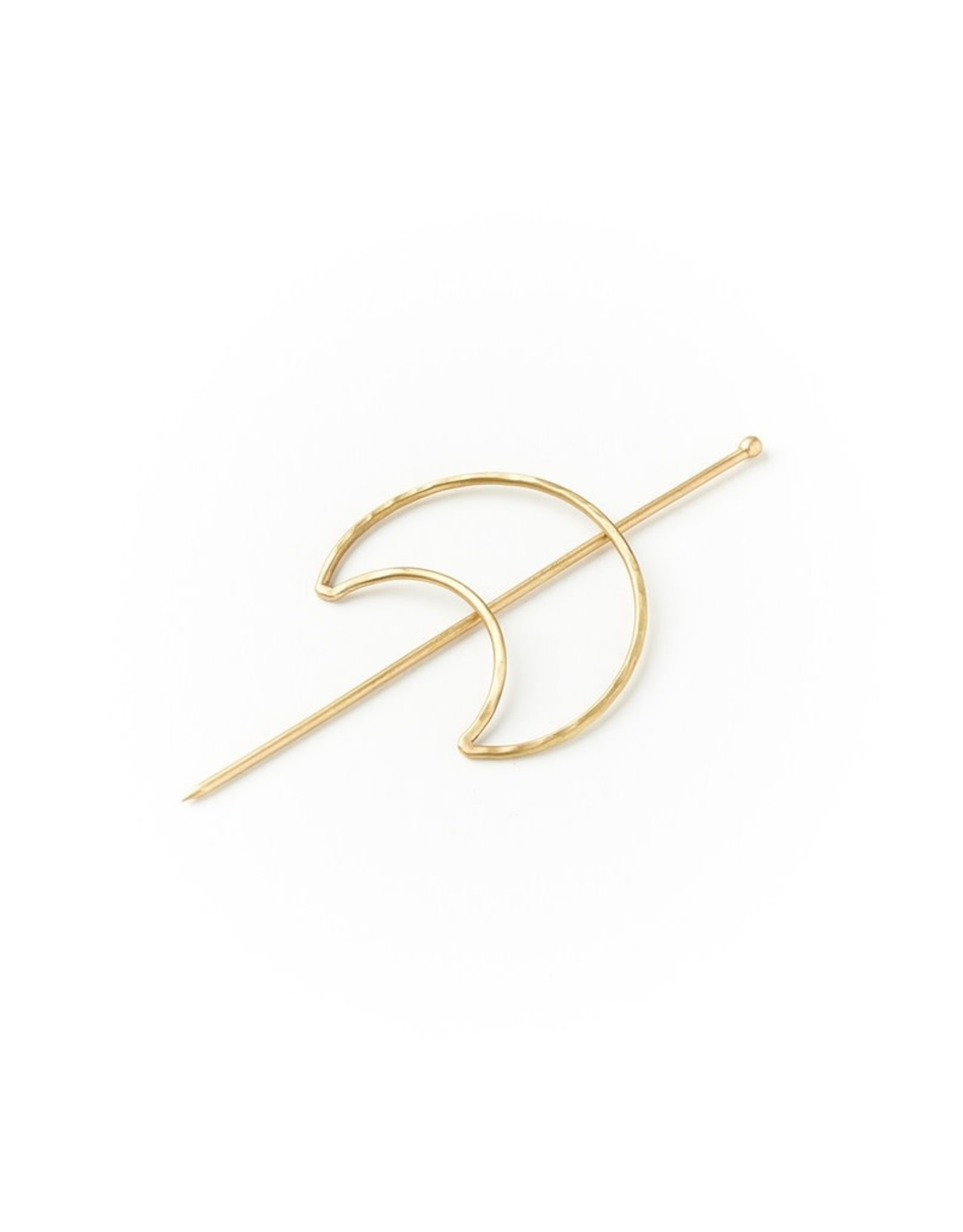 Indukala Crescent Hair Hoop or Scarf Pin, India