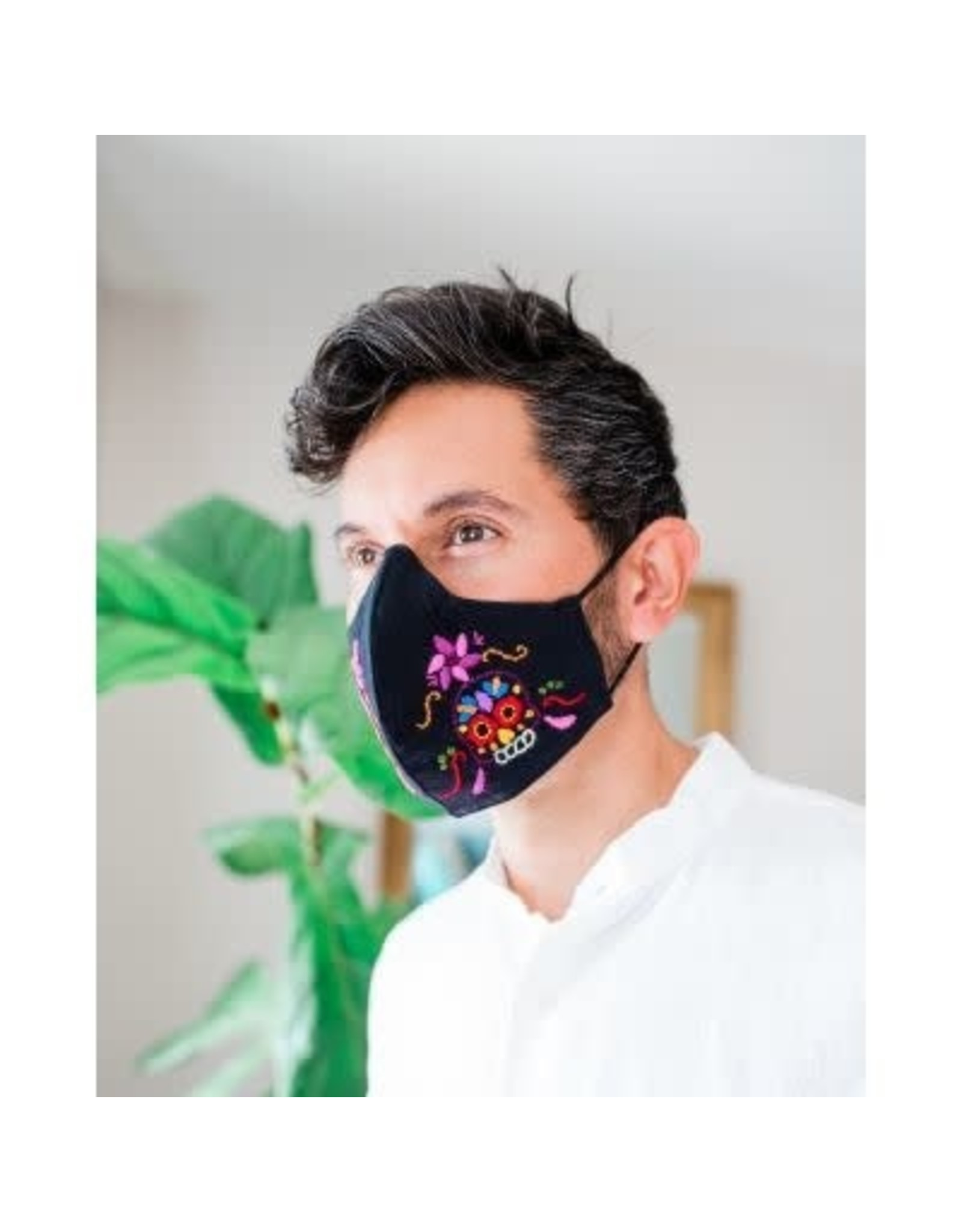 Sugar Skull Duckbill Mask, M, L Guatemala