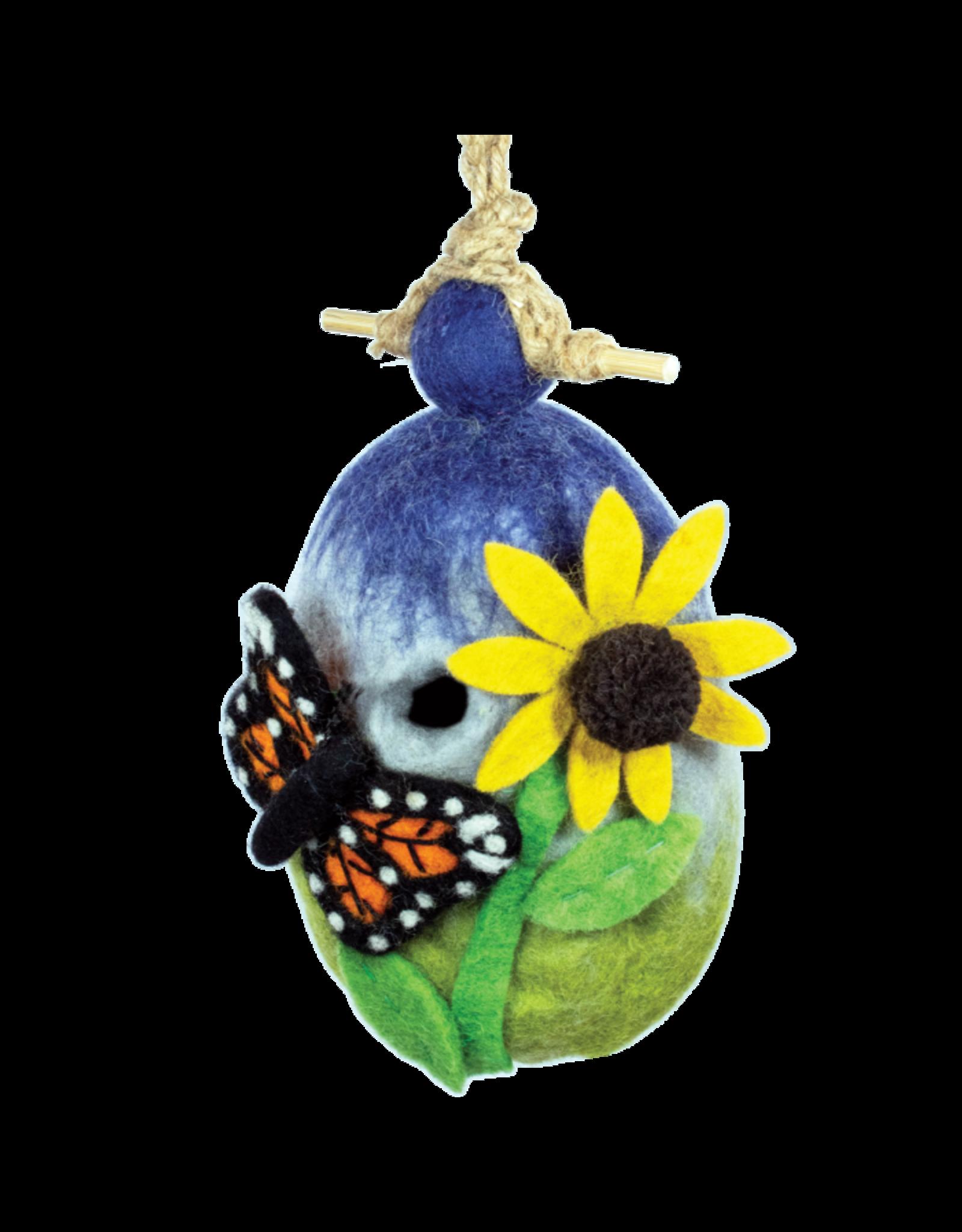 Felt Birdhouse, Butterfly, Nepal