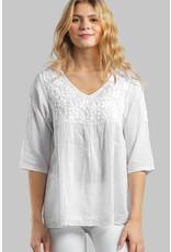Ramani Cotton White  Embroidered Tunic
