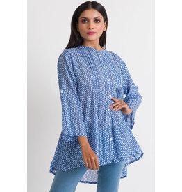 Amisha  Cotton Tunic, O/S, Blue, India