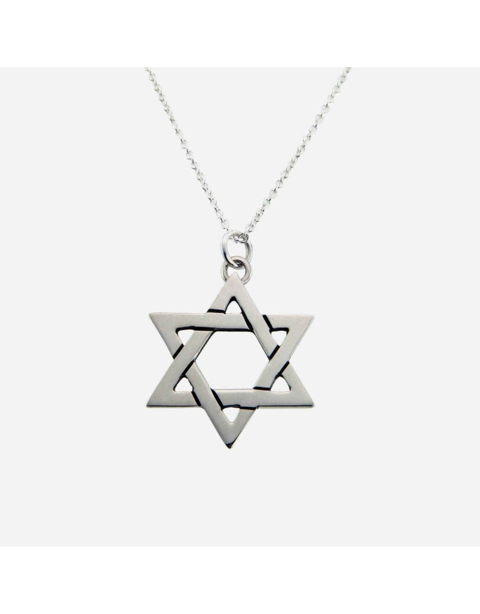 Star Of David, Sterling Silver Necklace, Mexico