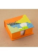 Note Box, Mama and Baby, Orange, Sri Lanka