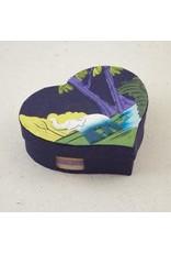 Heart  Shaped Note Box, Elephant Dark Blue