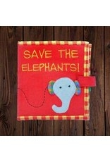 Save the Elephants Fabric Book, Sri Lanka
