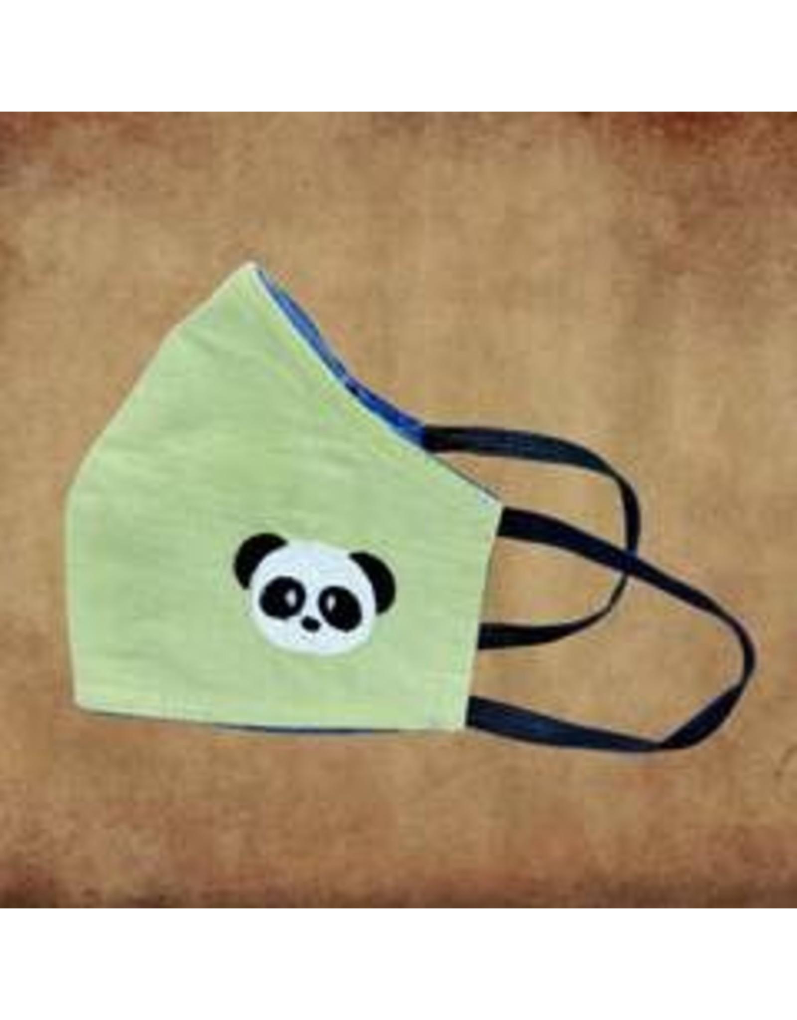 Kids Cotton Mask, w/ Filter Pocket, Panda, Sri Lanka