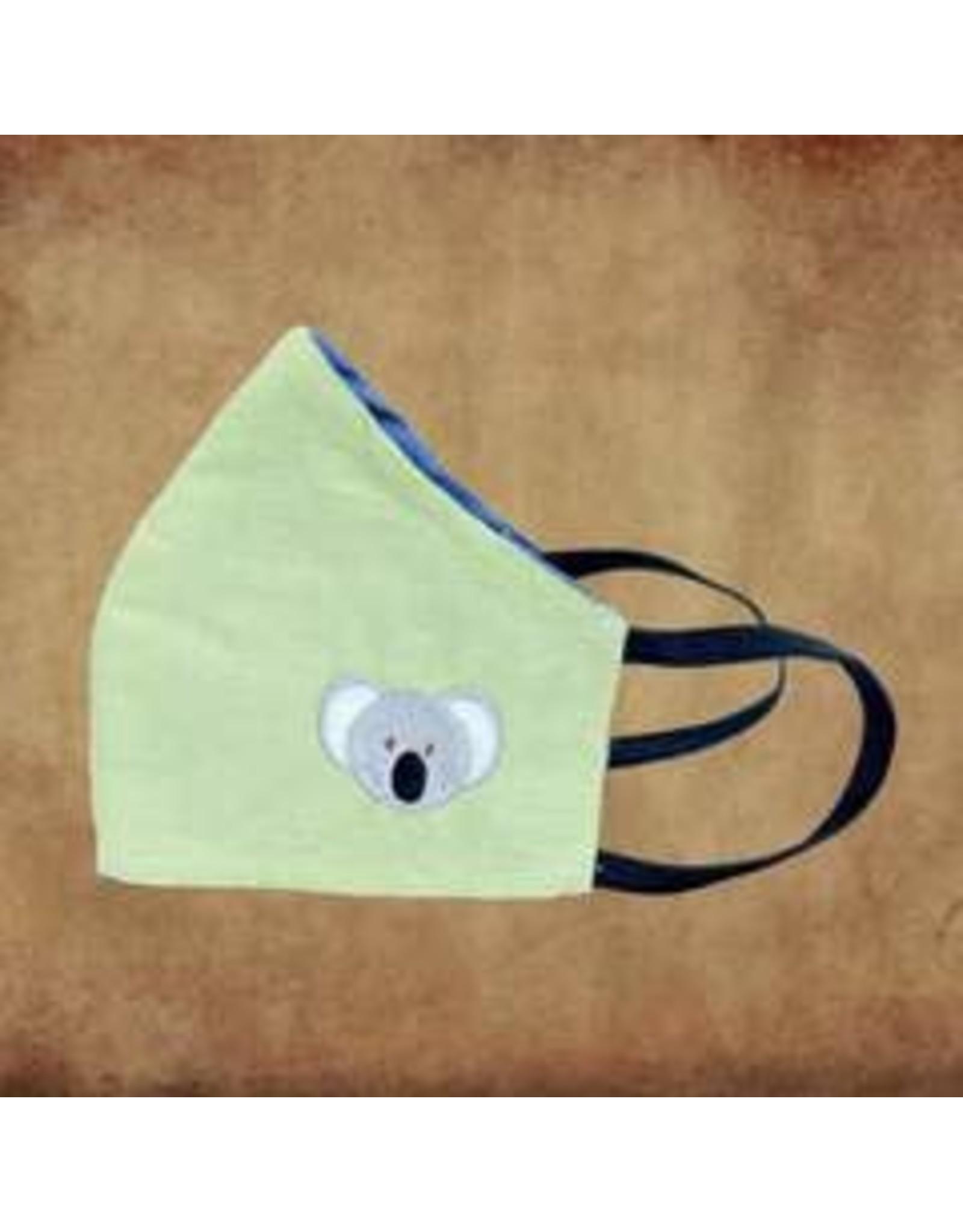 Kids Cotton Mask, w/ Filter Pocket, Koala, Sri Lanka