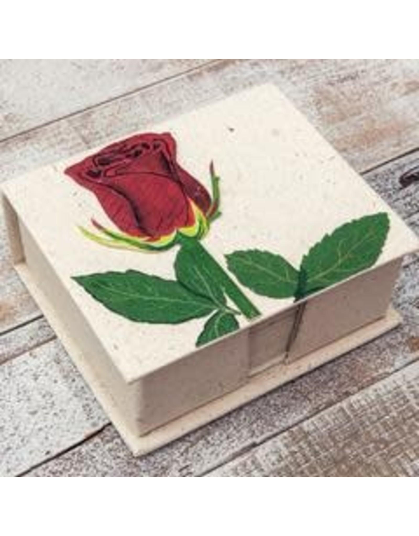 Note Box, Rose Flower, Sri Lanka