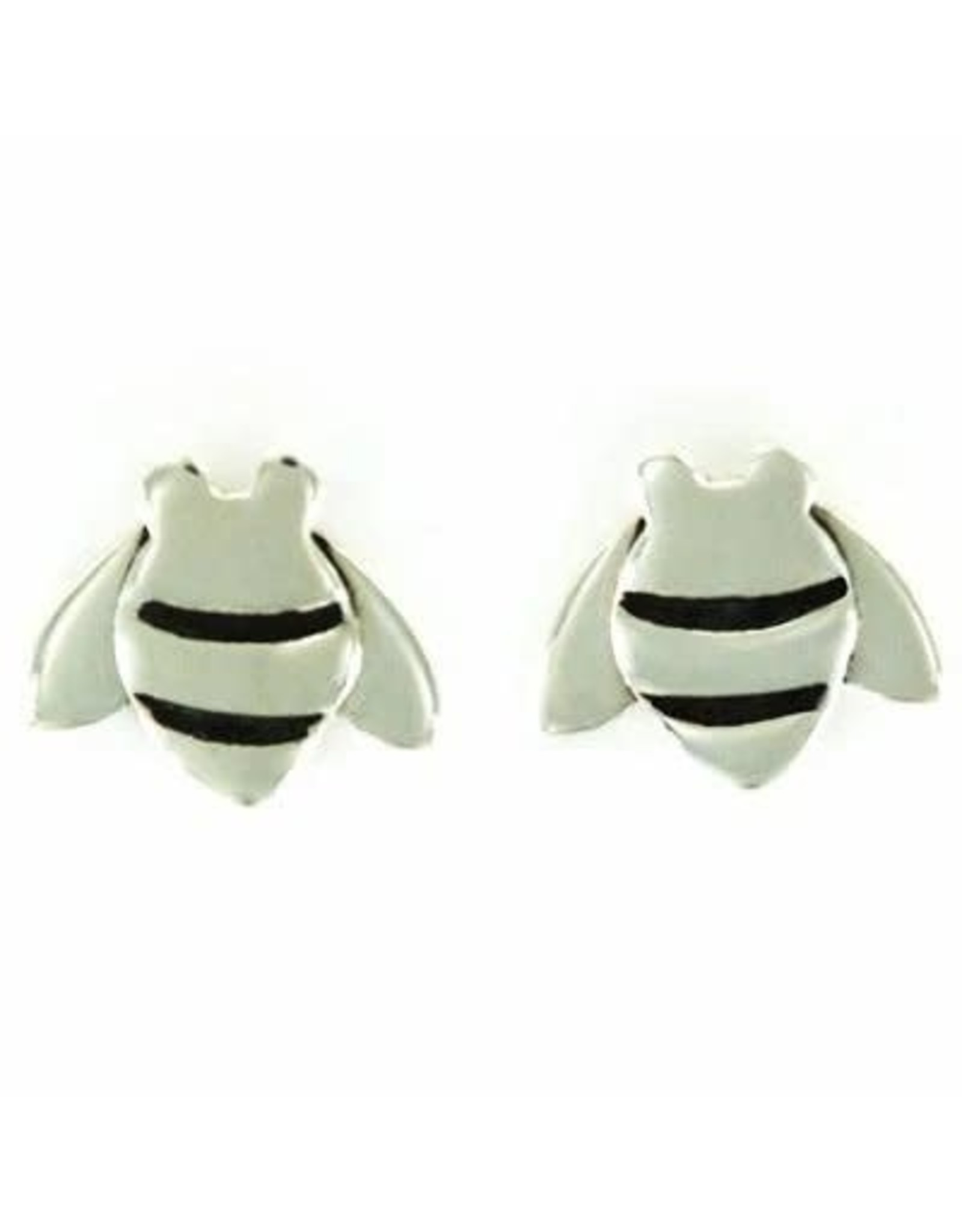 Bee Sterling Stud Earrings, SMALL, Mexico