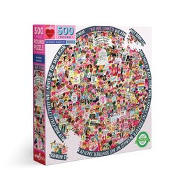 Women March Puzzle, 500 Pieces, ROUND