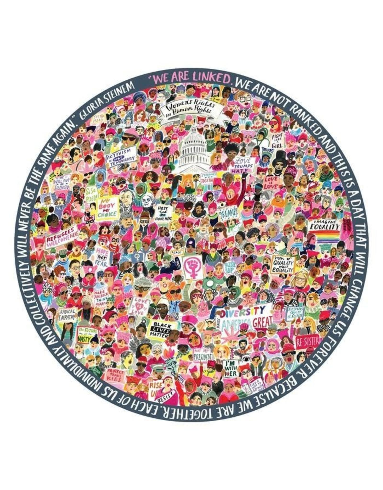 Women's March Puzzle, 500 Pieces, ROUND