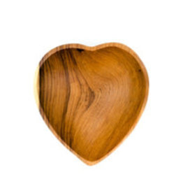 "Olivewood Heart Bowl,  6"", Kenya"
