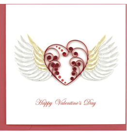 Heart with Wings Quilling Card