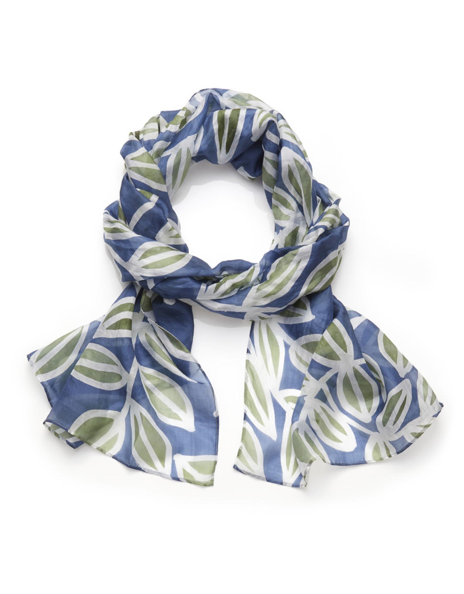 100% Silk Leaf Scarf, Bangladesh