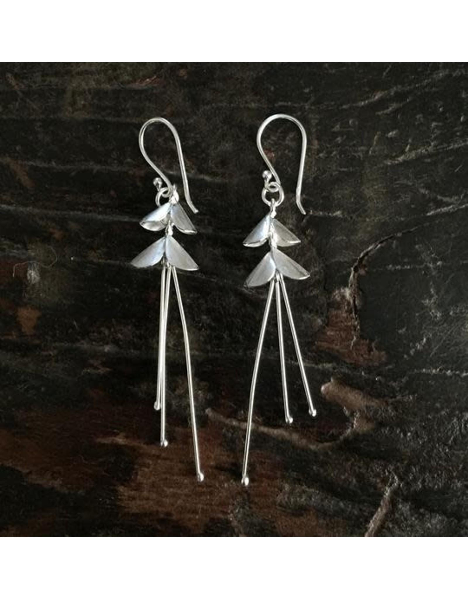 Hill Tribe Sterling Silver Ballerina Earrings